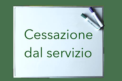 Circolare relativa alle cessazioni dal servizio dal 1° settembre 2022